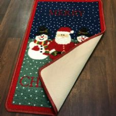 NON SLIP CHRISTMAS MATS 50X80CM GEL BACKING GOOD QUALITY RUGS DESIGN/COLOURS